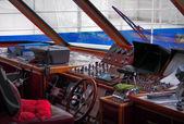 Captain's cabin of passenger ferry — Stock Photo