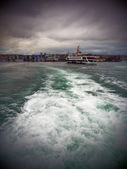 Passenger ferry in cloudy day — Stock Photo