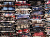 Plaid men's shirts in stock — Stock Photo