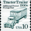 Stock Photo: Tractor Trailer 1930s
