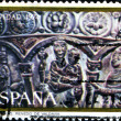 Christmas stamp printed in Spain — Stok fotoğraf