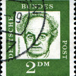 Постер, плакат: Commemorating poet Gerhart Hauptmann