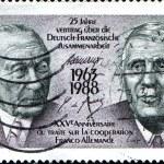 Постер, плакат: Konrad Adenauer and Charles de Gaulle
