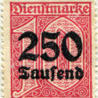 Stock Photo: Overprinting 250 made in 1923