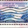 Foto Stock: Century of friendship Unuted States - Canada