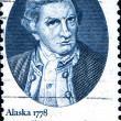 Captain James Cook, Alaska, 1778 stamp — Stock Photo