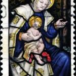 Madonna and Child, Epiphany Window, Washington Cathedral — Stock Photo