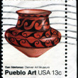 Pottery of SIldefonso tribe, Pueblo art from Denver Art Museu — Stock Photo #38089779