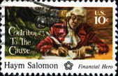 хайм salomon, финансовые герой — Стоковое фото