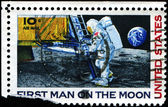 First man on the Moon — Stock Photo
