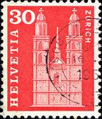 Grossmunster church, Zurich — Stock Photo