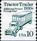 Tractor Trailer 1930s — Stock Photo