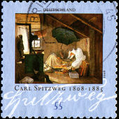"Draw ""The Poor Poet"" by Carl Spitzweg — Stock Photo"