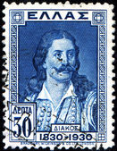 Athanasios Diakos, a Greek military commander during the Greek W — Stock Photo
