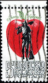 Johnny appleseed — Stockfoto