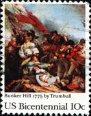 Bunker Hill, 1775 by Trumbull — Stock Photo