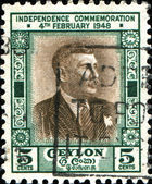 Don Stephen Senanayake, the first Prime Minister of Ceylon — Stock Photo