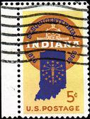 Indiana haritası — Stok fotoğraf