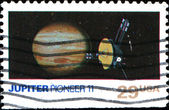 Jupiter and Pioneer 11 — Stock Photo