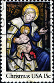 Madonna and Child, Epiphany Window, Washington Cathedral — Stock Photo