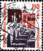 Regensburg stone bridge — Stock Photo