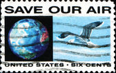 Usa stamp Save our air — Foto Stock