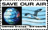 Usa stempel opslaan onze lucht — Stockfoto
