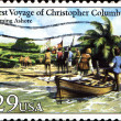 Coming Ashore, First voyage of Christopher Colubbus — Stock Photo