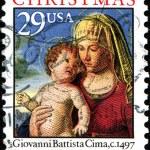 Madonna and Child in a Landscape, Giovanni Battista Cima, from N — Stock Photo