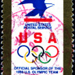 Stock Photo: USPS - official sponsor of 1992 US Olympic team
