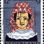 Постер, плакат: Girl in Regional Costume Hindeloopen