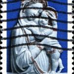Sculpture Genoa Madonna — Stock Photo