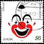 Face of a clown — Stock Photo
