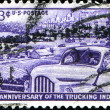Stock Photo: 50th anniversary of trucking industry
