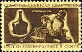 Colonial American Craftsman — Stock Photo