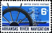 Arkansas river navigation — Stock Photo