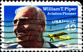 William T Piper, Aviation Pioneer — Stock Photo