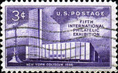 Fifth international philatelic exheibition, New York, Coliseum — Stock Photo