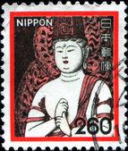 Sculptuur van boeddha in de tempel chuson-ji — Stockfoto
