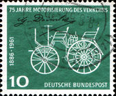 75th Anniv of Daimler-Benz Patent. Early Daimler Motor Car — Stock Photo
