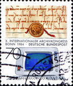 10th International Archives Congress, Bonn. Medieval Document an — Stock Photo
