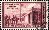 Stephen Watts Kearny expedition, entry into Santa Fe — Stock Photo