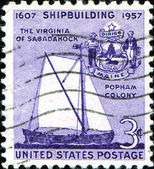 Virginia of Sagadahoc, shipbuilding — Stock Photo