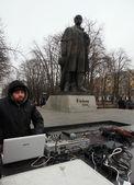 Opposition rally in Lugansk — ストック写真