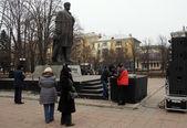 Comício da oposição em lugansk — Foto Stock