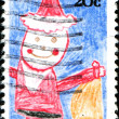 Child drawing of Santa Claus — Stock Photo #38415961