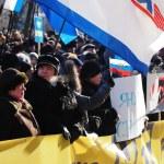 Постер, плакат: Pro Yanukovych rally in eastern Ukraine