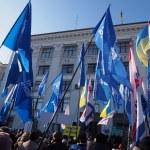 Pro-Yanukovych rally in eastern Ukraine — Stock Photo #39512203