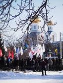 Anti-government protest in Lugansk — Stock Photo