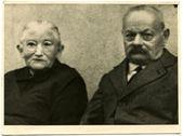 Studio portrait of an elderly couple — Stockfoto